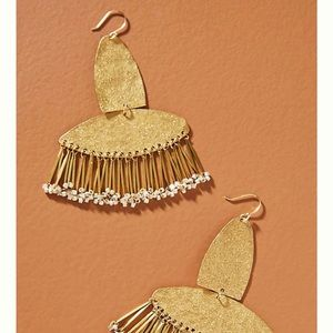 Anthropologie Asher Fringed drop earring